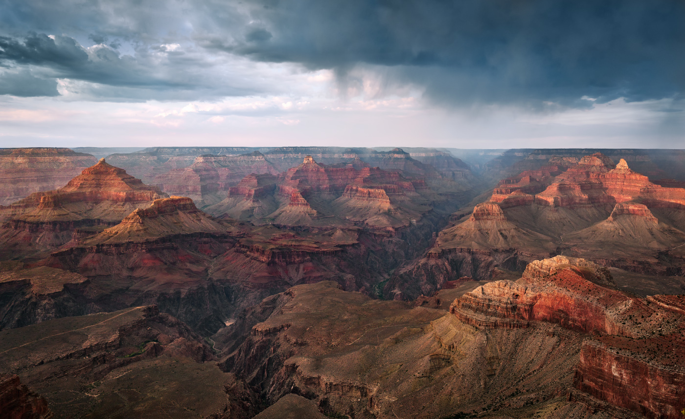 Monsoon on the Rim at Mather Point, Grand Canyon National Park