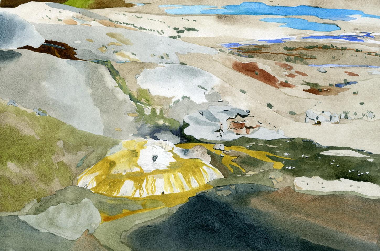 Ledge Geyser, Yellowstone