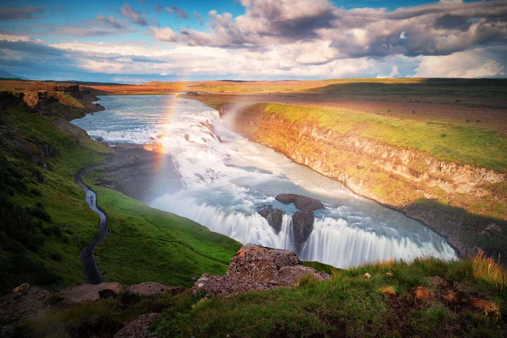 Private Driver Reykjavik Gullfoss waterfall
