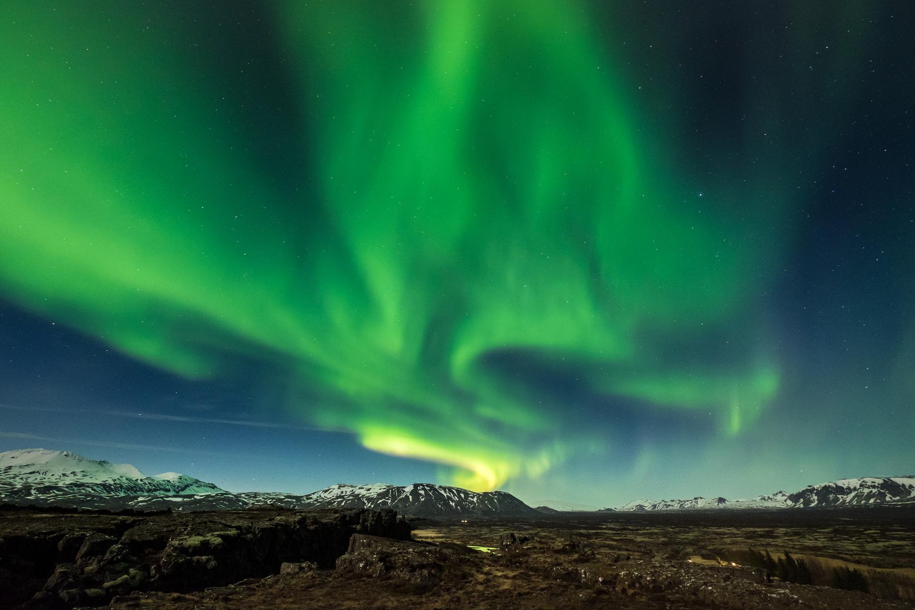 Winter Wonder Golden Circle Tour with Northern Lights Hunt