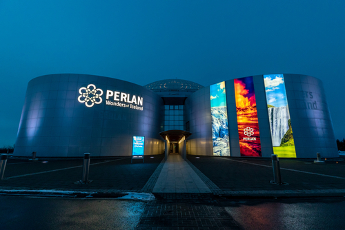 The Perlan Museum and Planitarium, Reykjavik. This modern building consists of tanks filled with geothermal water in a city that aims to be carbon neutral by 2040