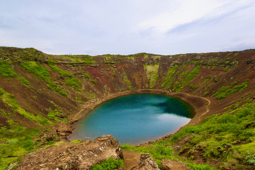 Volcanic Crater Kerið in Iceland