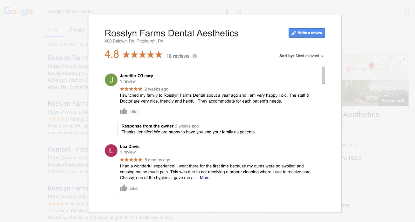 Dental Reviews Robinson PA