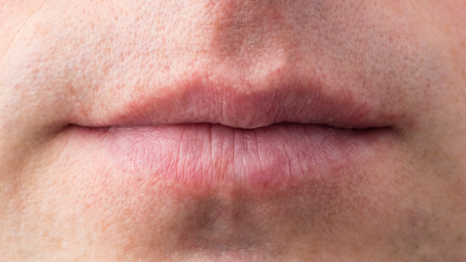 closeup of man's lips