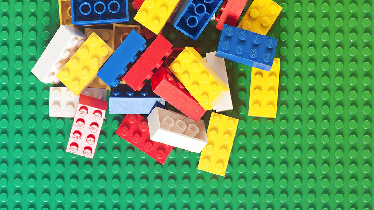 An image of legos in a pile