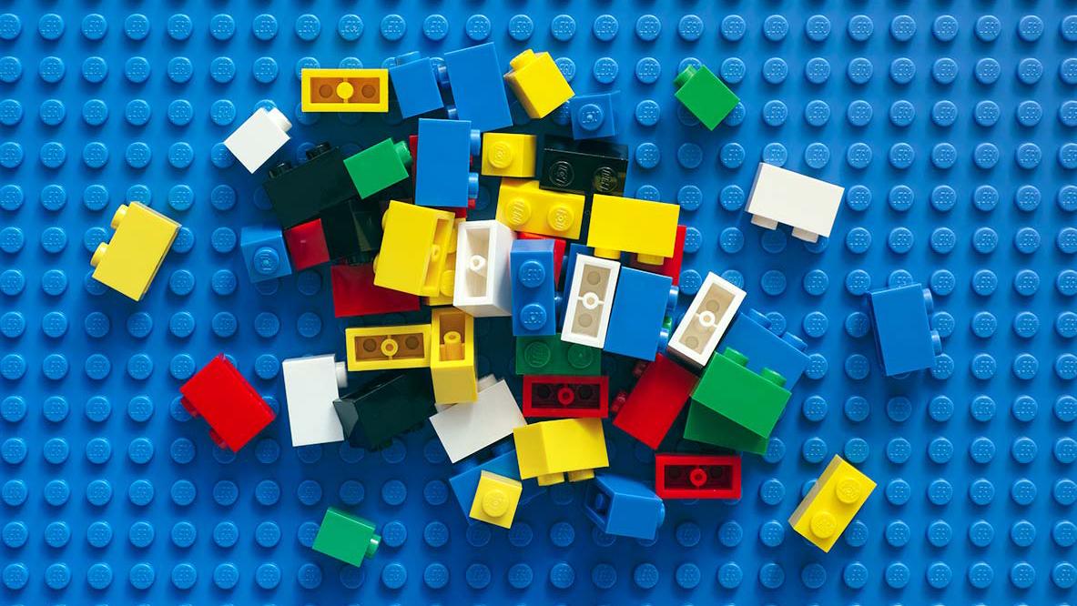 Scattered lego blocks