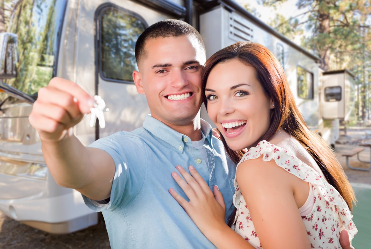 Photo of couple purchasing an RV