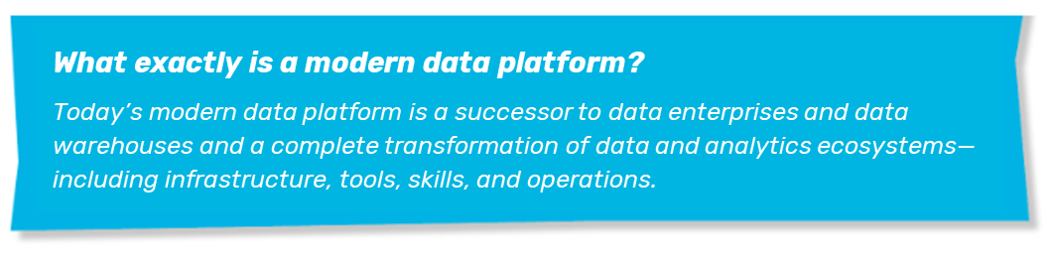 Definition for modern data platform