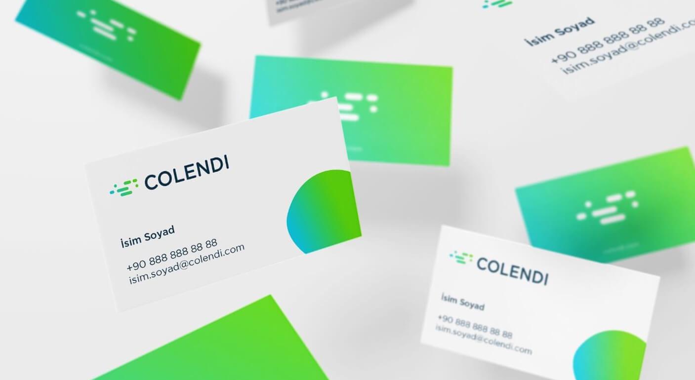 Colendi Corporate identity design branding business card