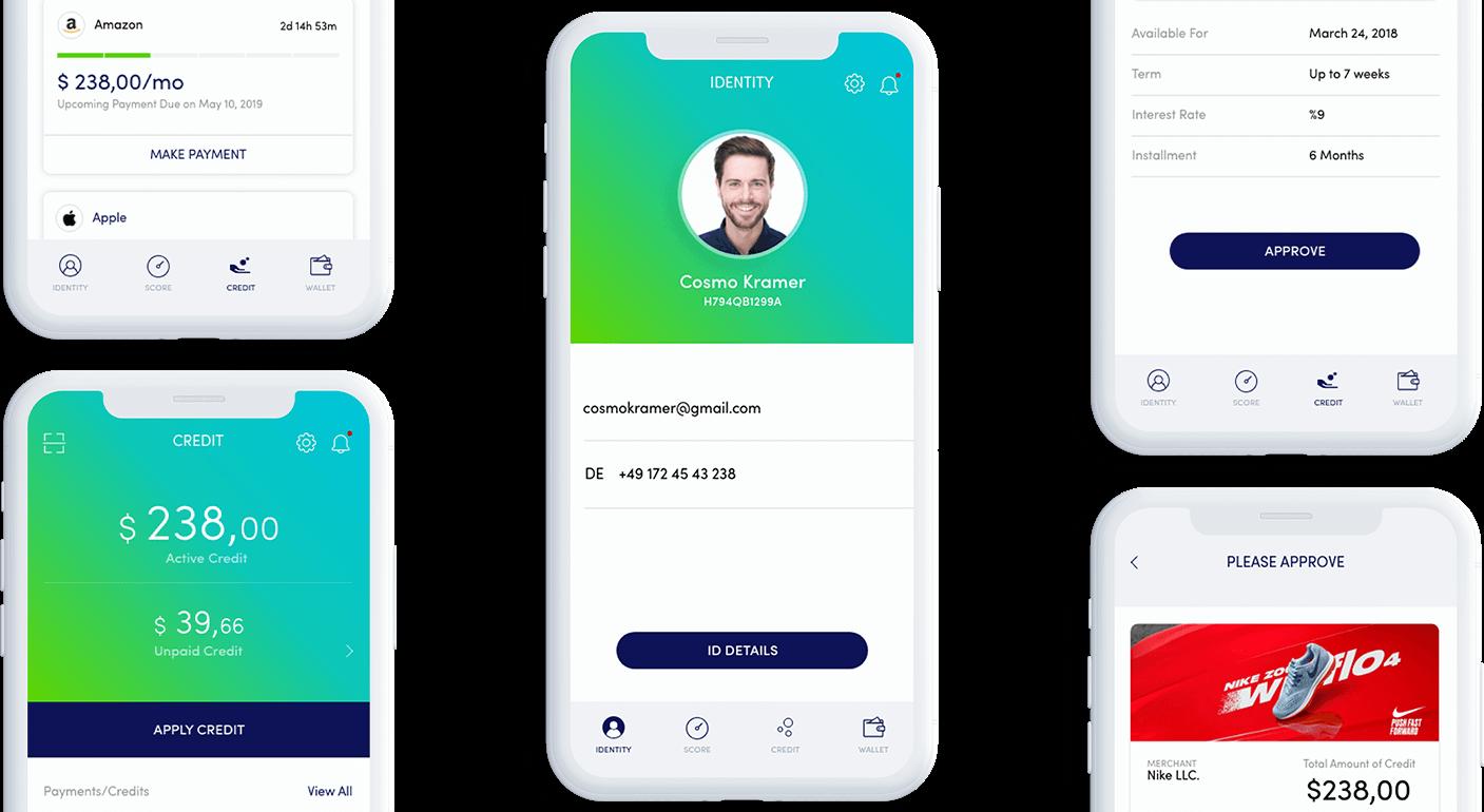 Colendi mobile app user experience design UI UX