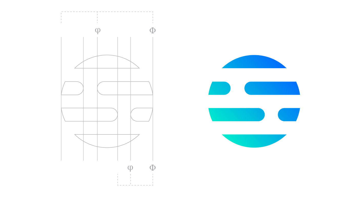 Dgpays corporate identity golden ratio logotype design process