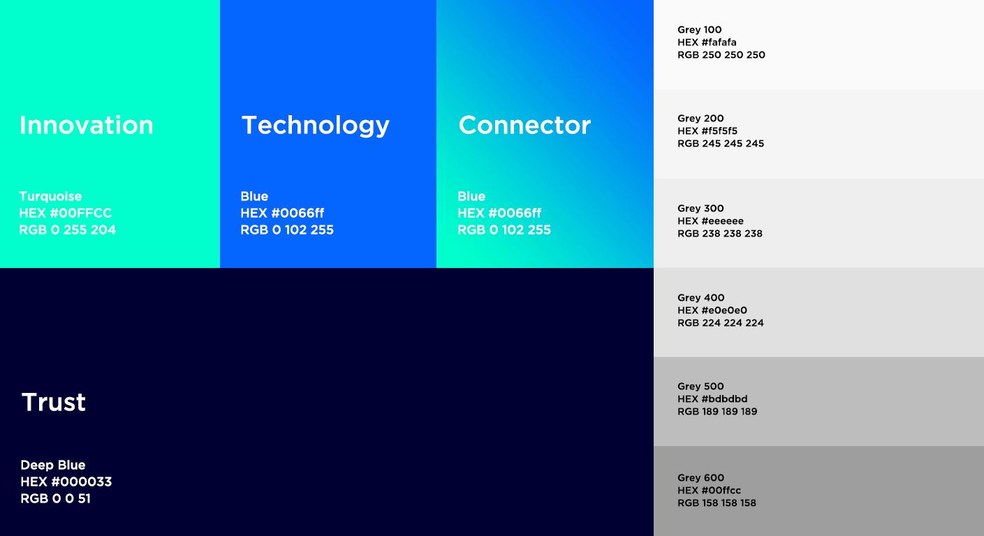 Dgpays corporate identity design process colors