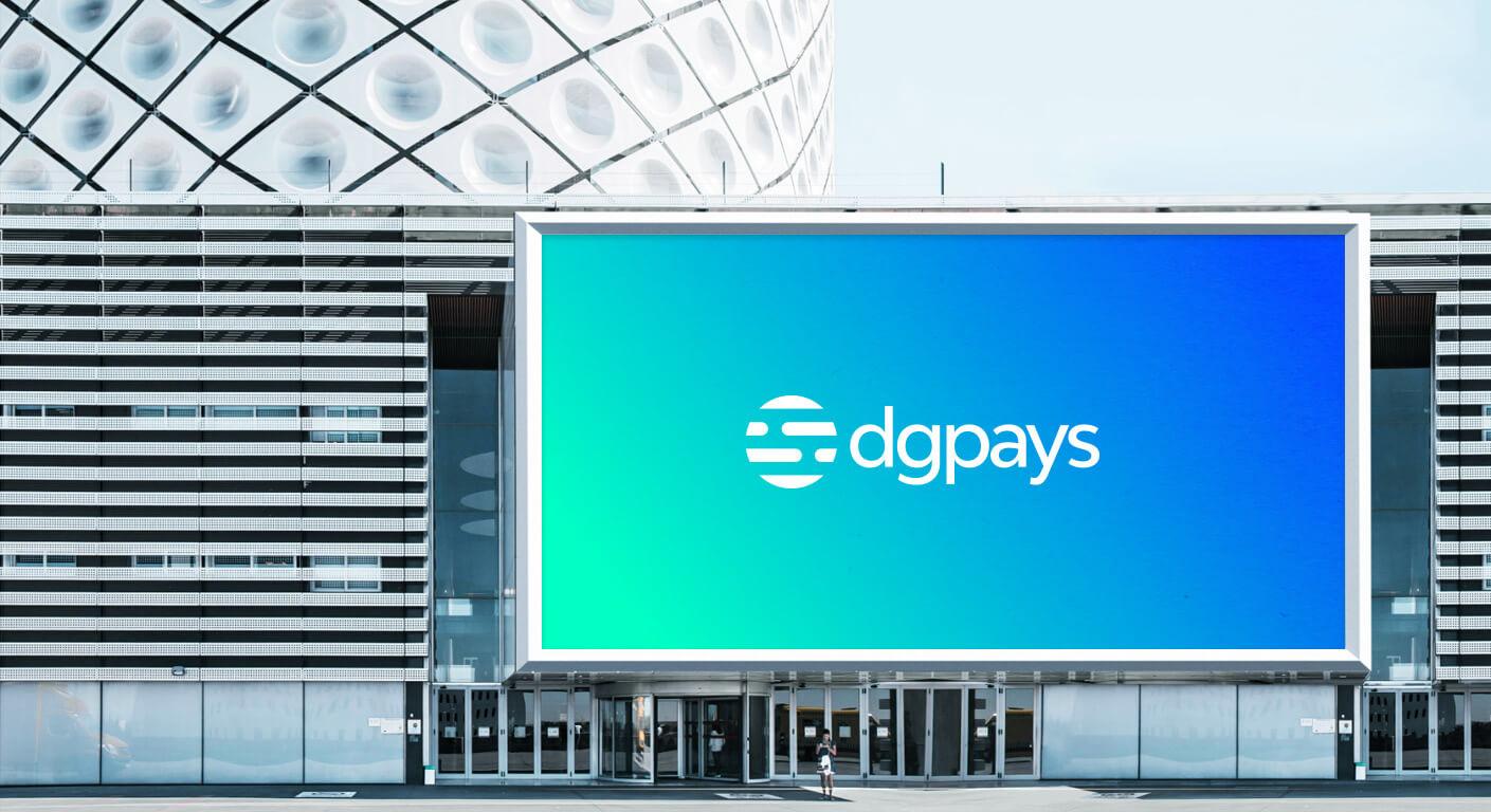 Dgpays corporate identity branding design outdoor