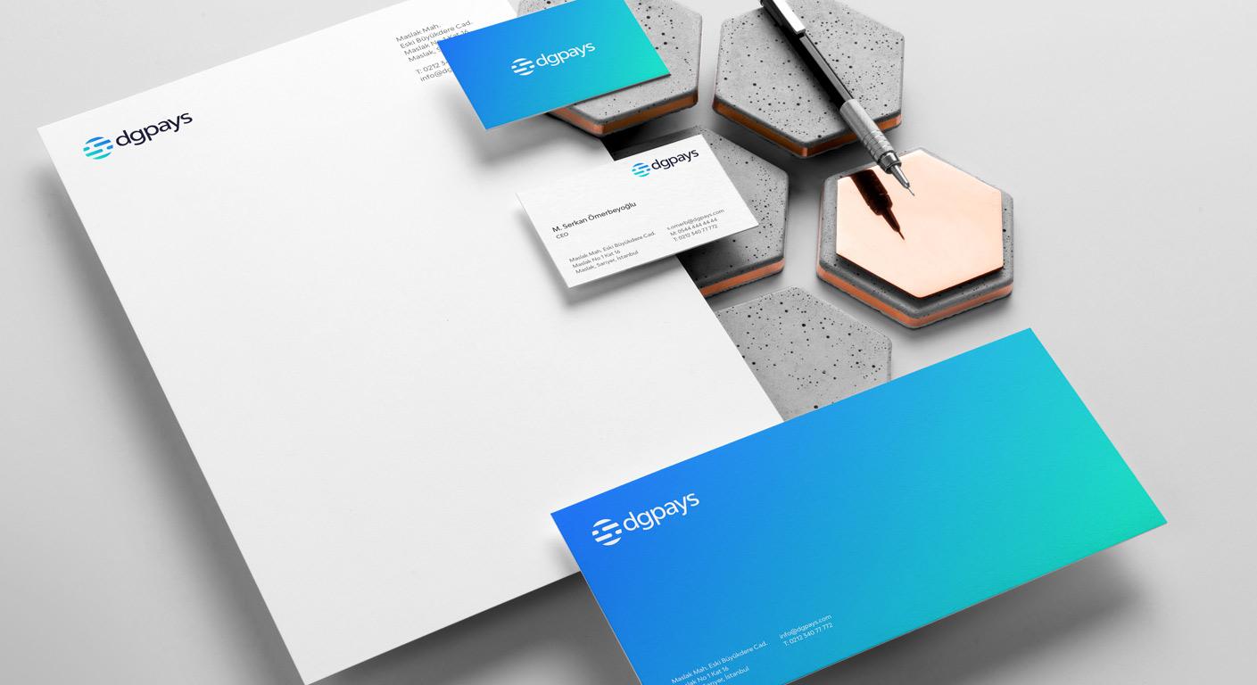 Dgpays corporate identity branding design materials