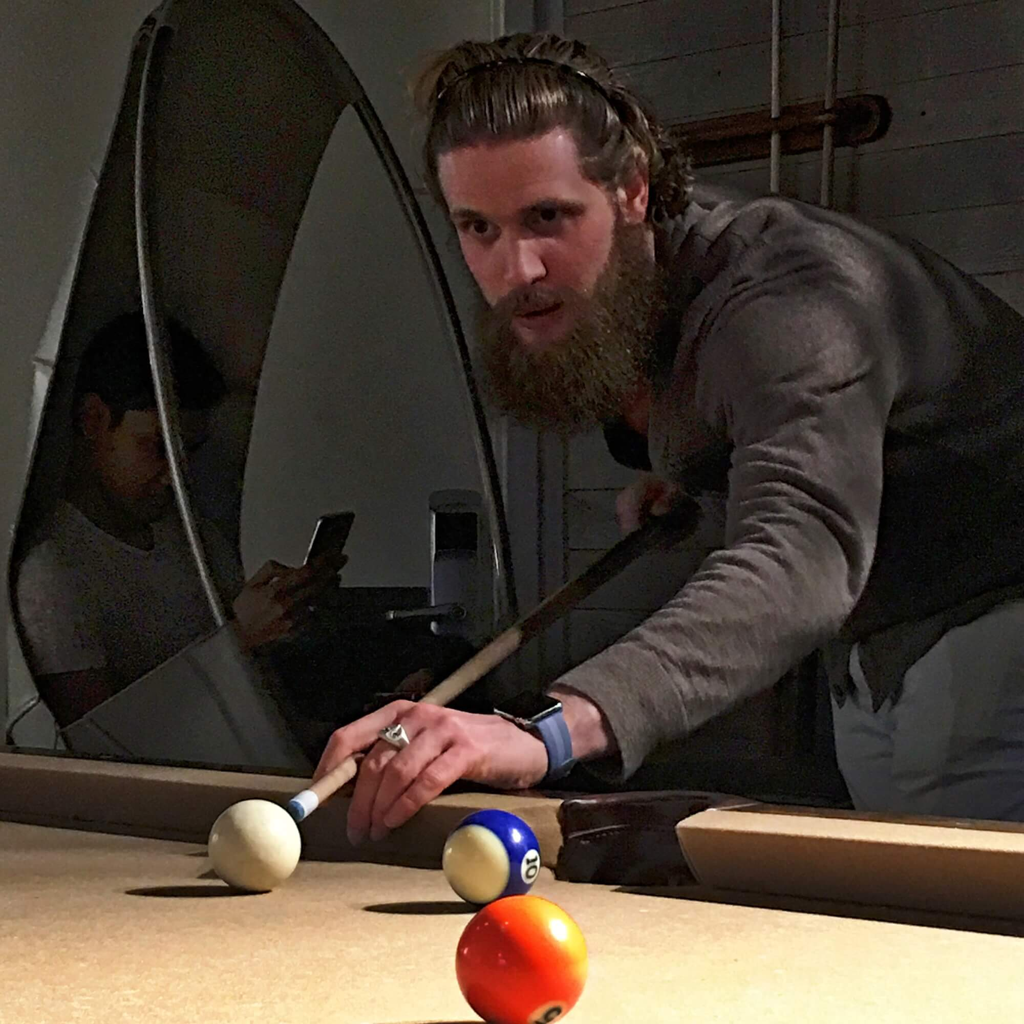 Aaron Krause Playing Pool