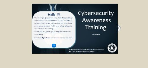Cybersecurity Awareness Training