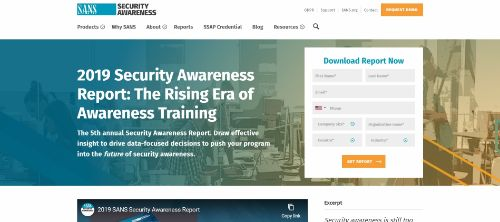 2019 Security Awareness Report: The Rising Era of Awareness Training