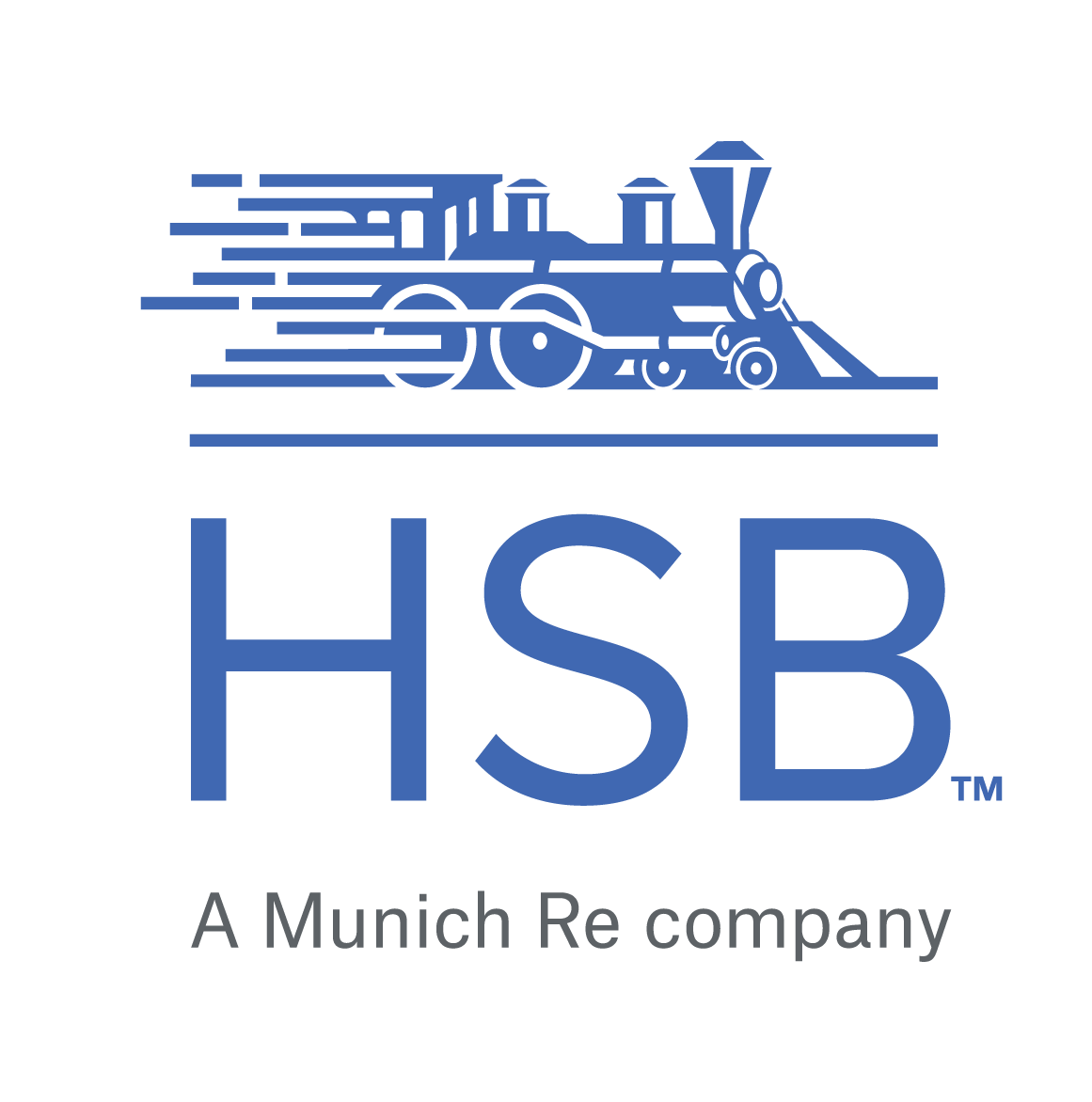Logos for Munich RE Group and Hartford Steam Boiler