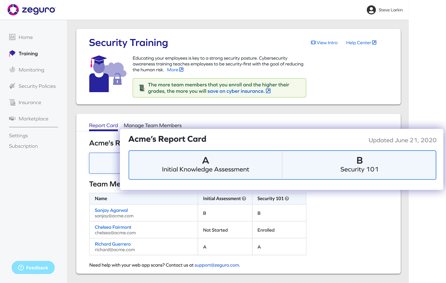 security-training-report-card