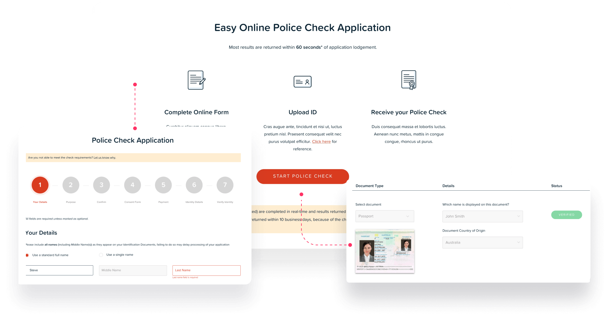 Automating the National Police Check Experience with Machine Learning on AWS