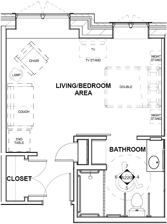 St. Camillus Memory Care Sample Apartment Floor Plan