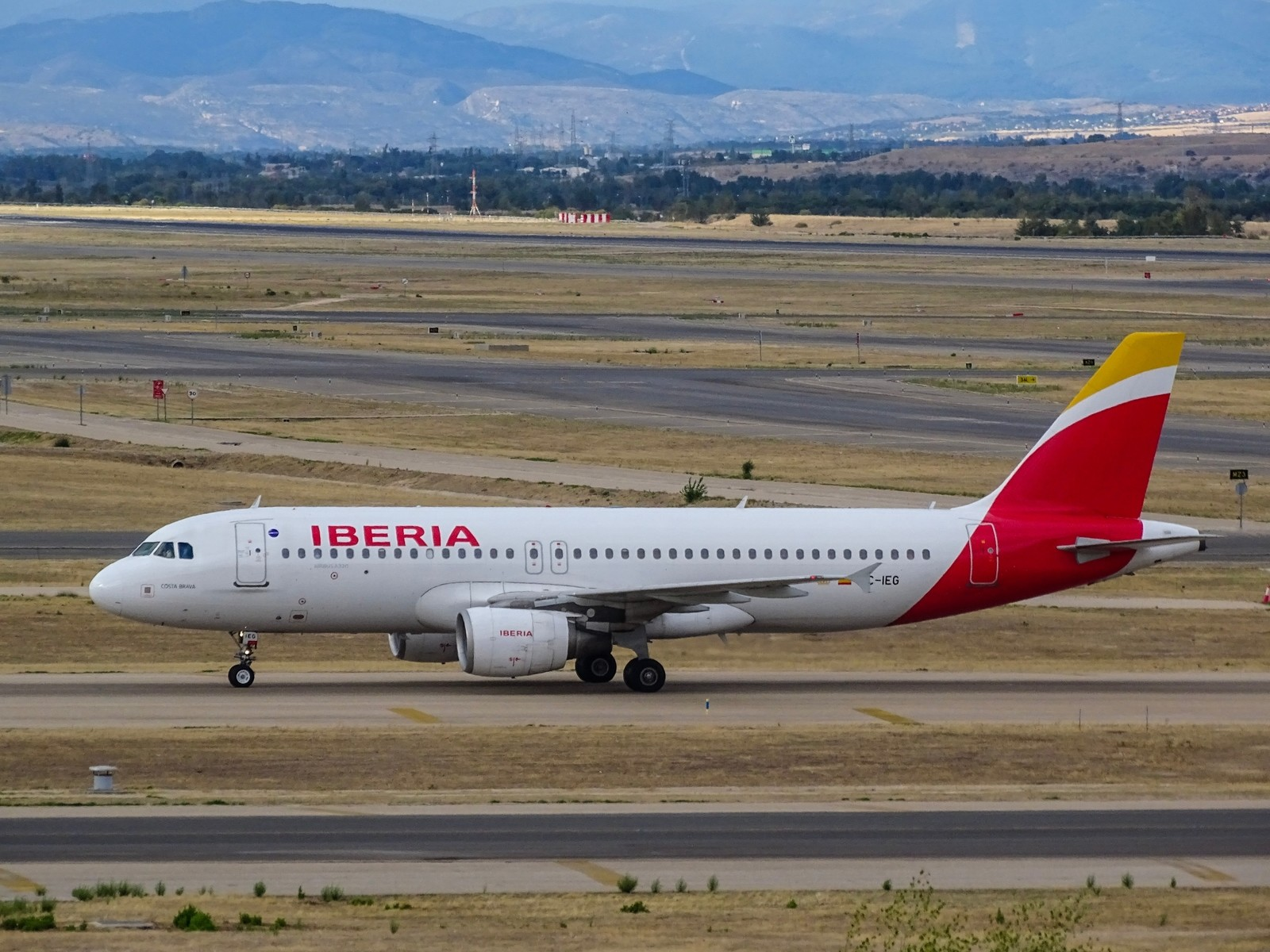 Iberia Plane on Runway