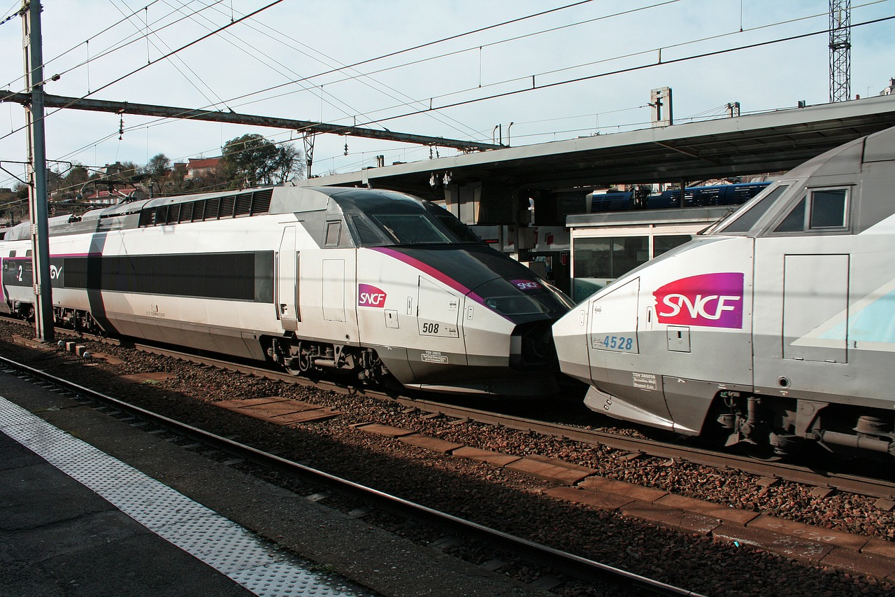 Two SNCF TGV Trains