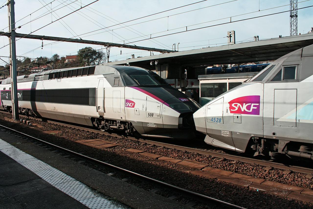 Two SNCF TGV Trains