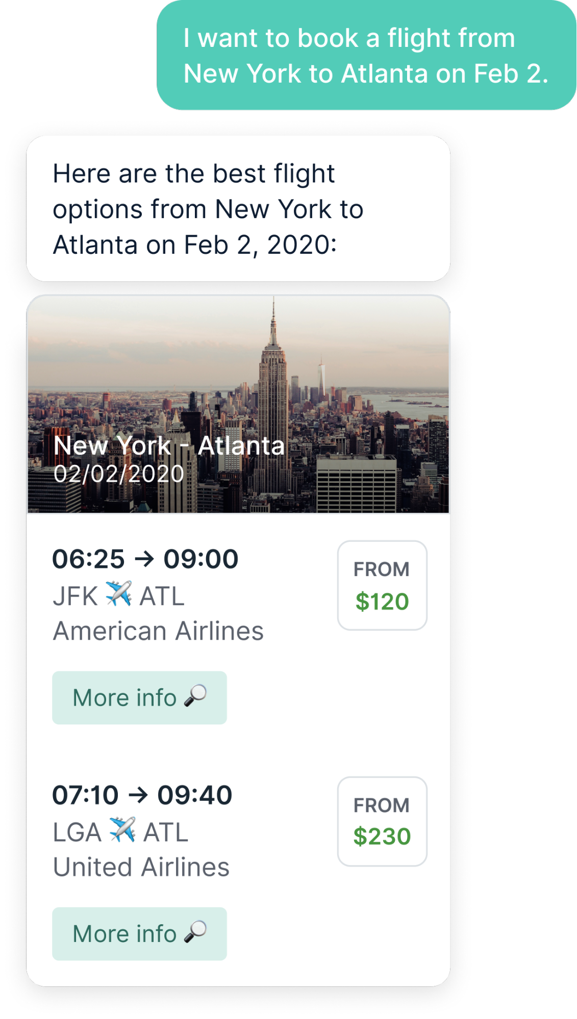 Flight Availability with a Bot