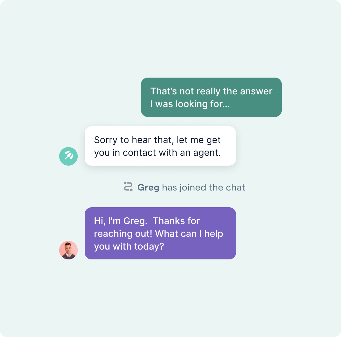 Bot Transferring Conversation to Human Agent