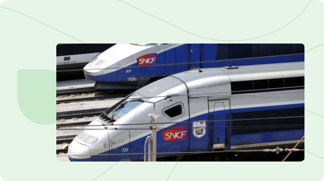 SNCF Trains at Rail Station