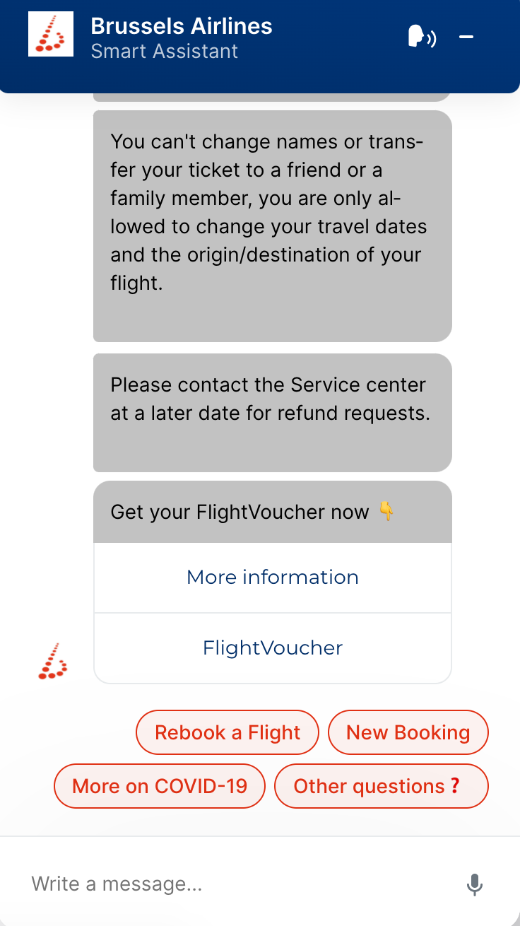 Brussel's Airline Bot Offering Flight Voucher