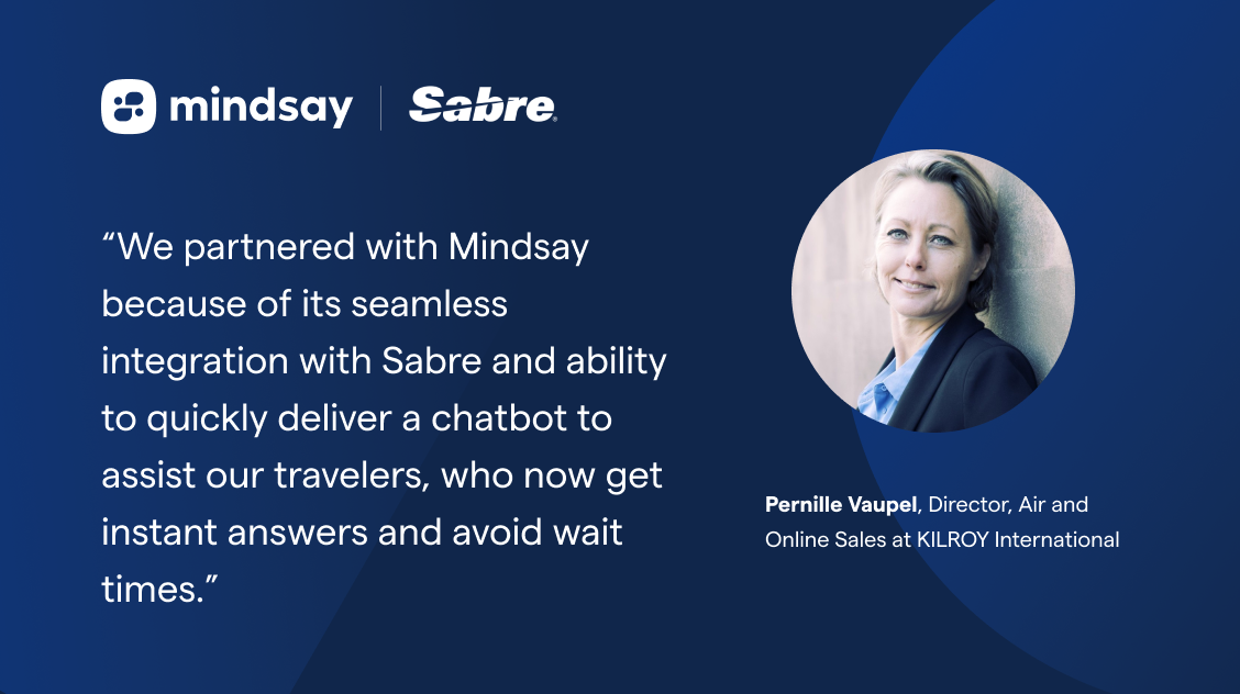 Quote from Pernille Vaupel, Director, Air and Online Sales at Kilroy