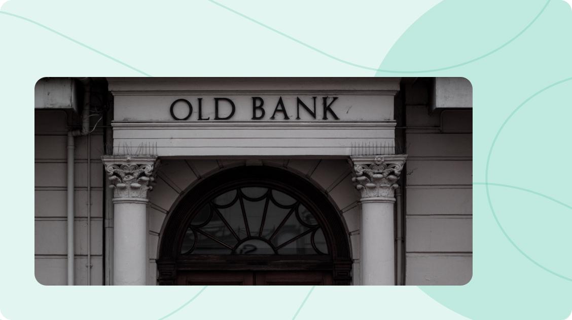 Entrance to a Bank