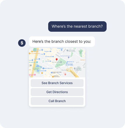 Bot Giving Map to Nearest Bank Branch