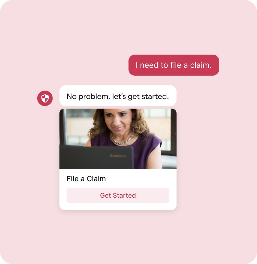 Person Filing an Insurance Claim Through a Bot