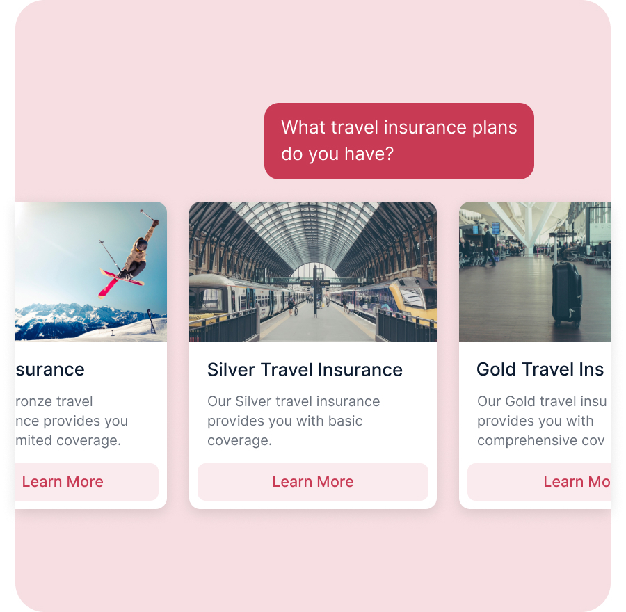 Bot Offering Travel Insurance Plans to Customer