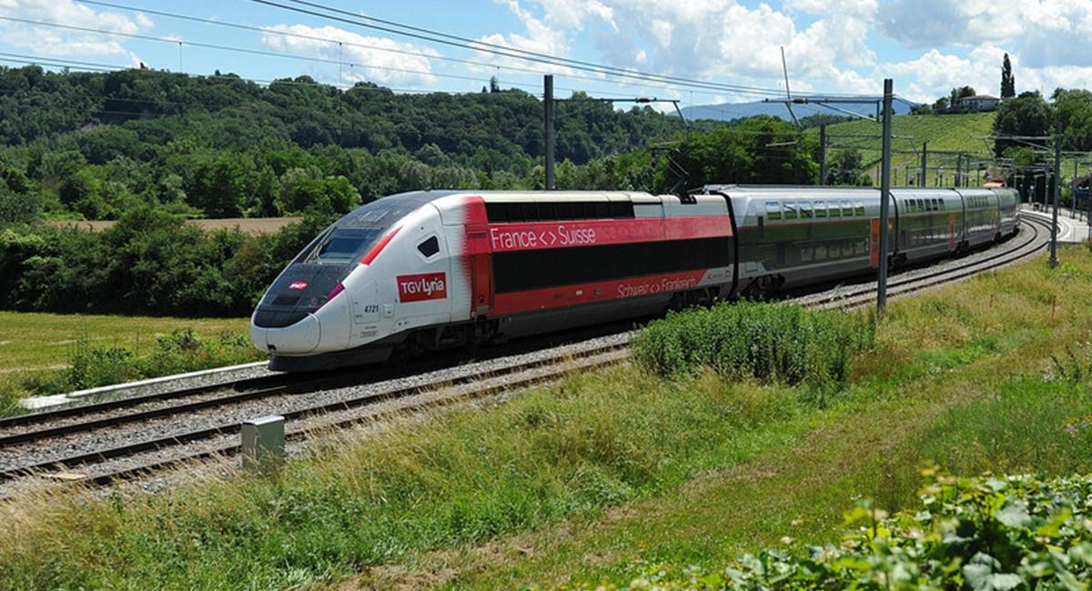 TGV Lyria Train in the Vineyards