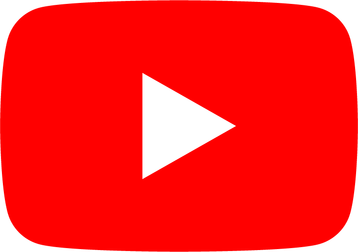 Red youtube logo with link to store youtube page