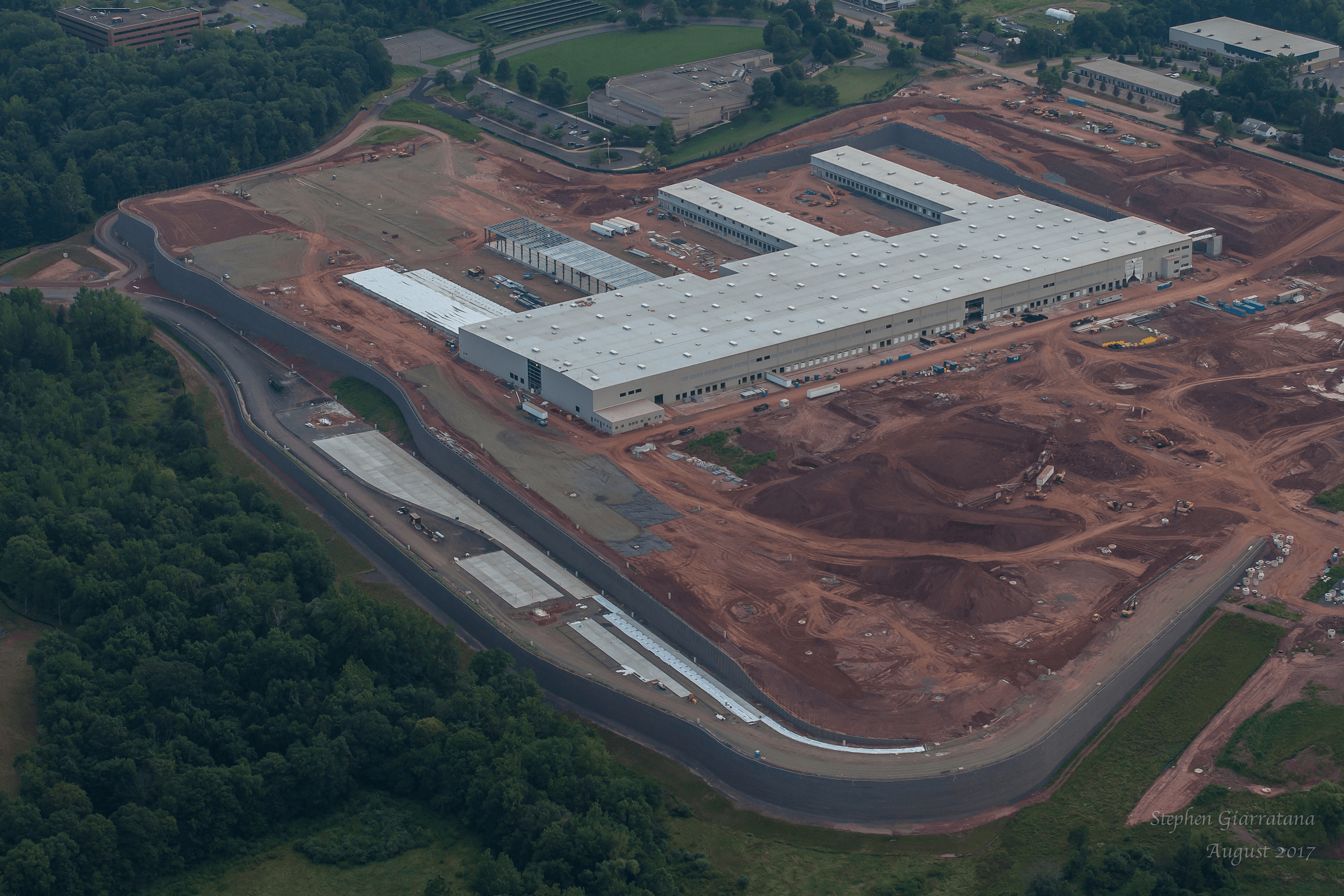 Fedex facility in middletown, Ct. Partially built