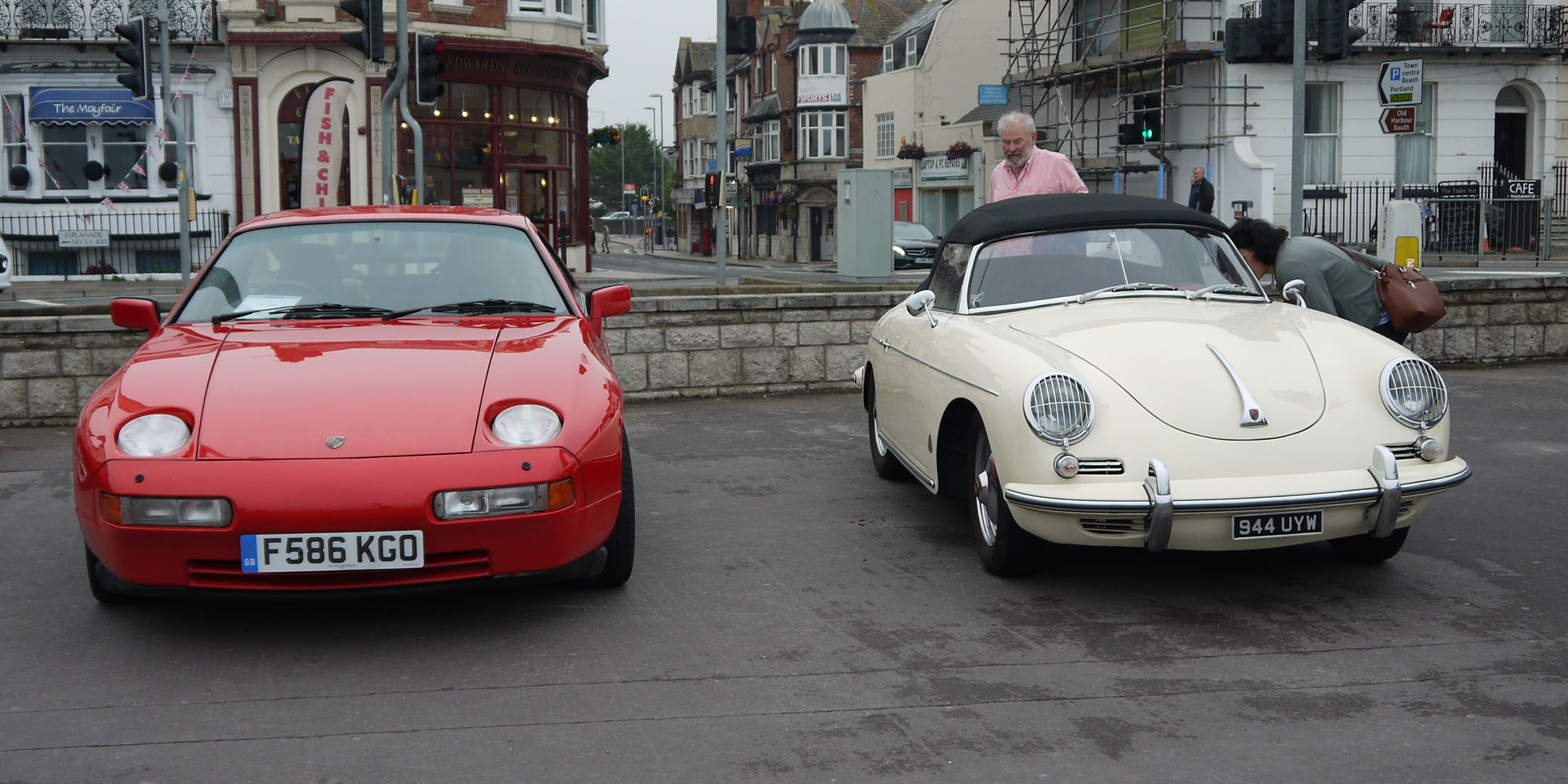 Porsches at Weymouth