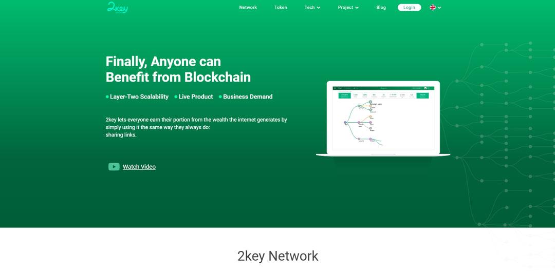 2key.network homepage screenshot
