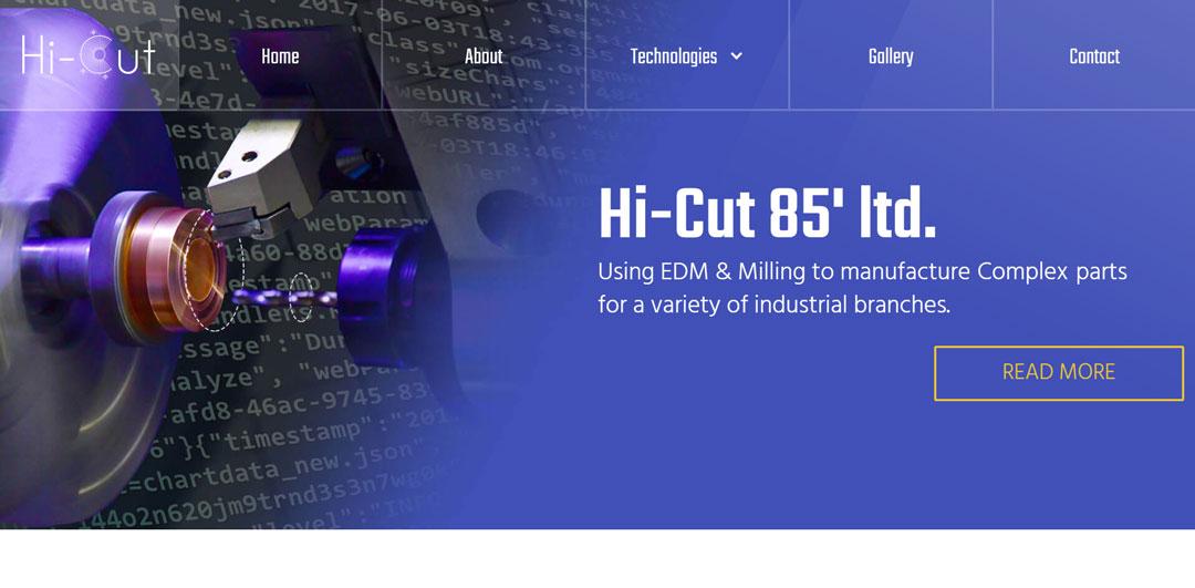 hicut.com homepage screenshot