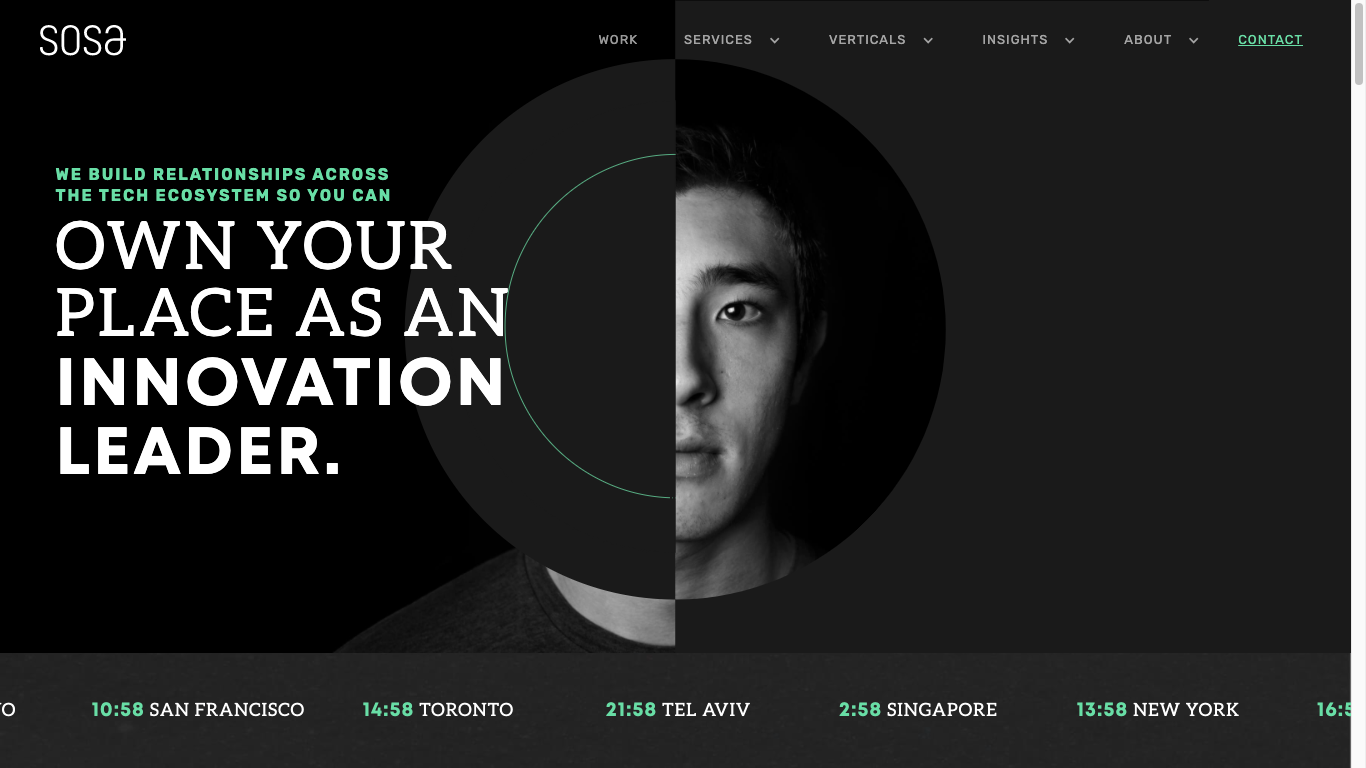 Sosa.co homepage screenshot