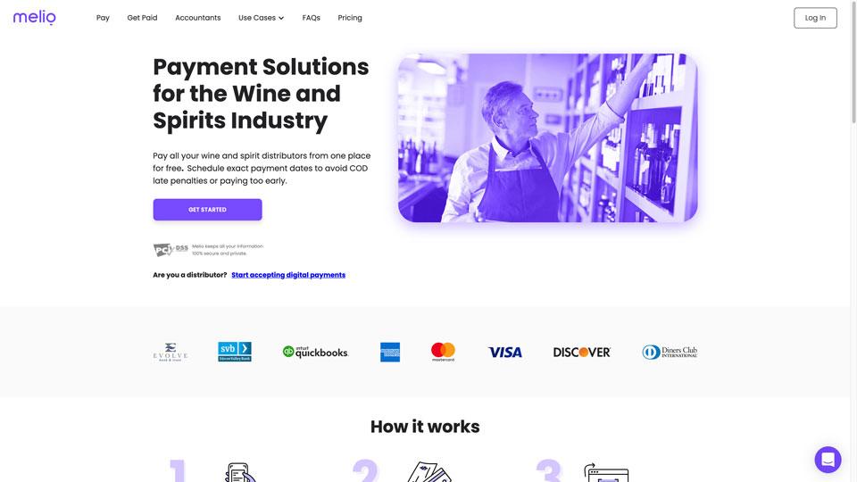 meliopayments.com homepage screenshot