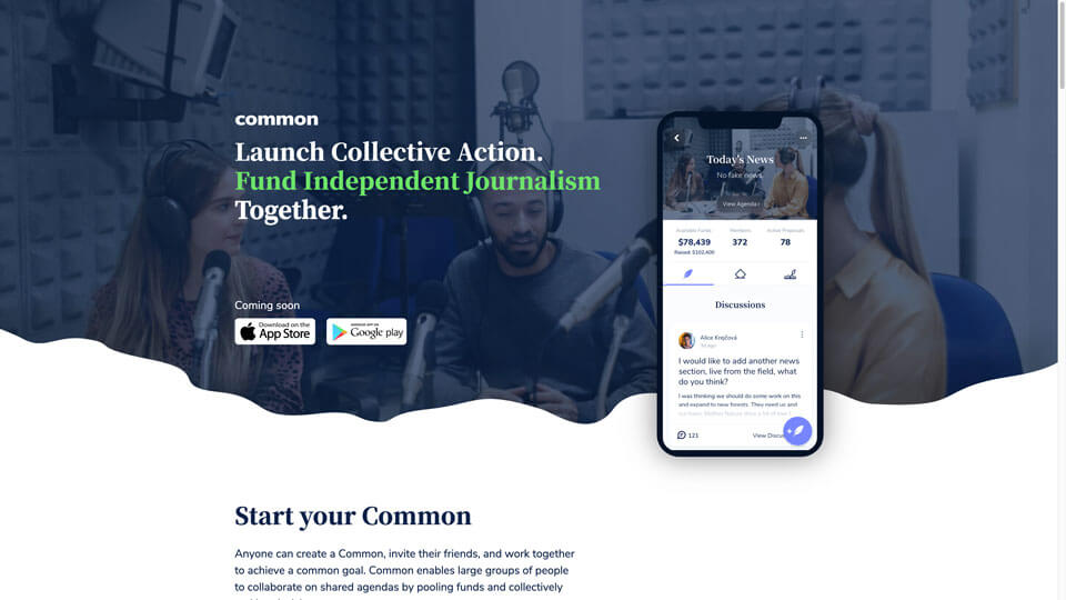 common.io homepage screenshot