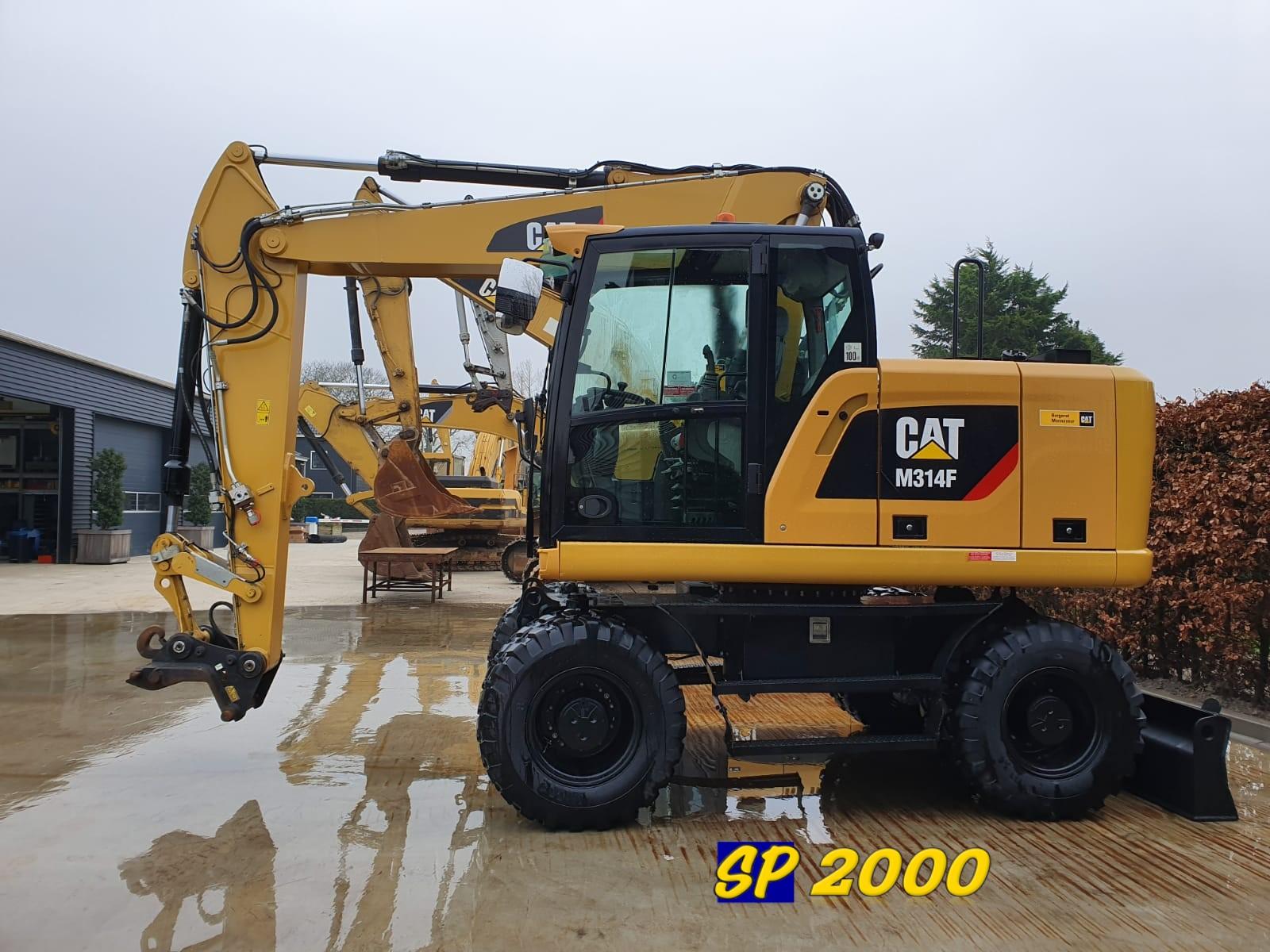 Caterpillar M314F Wheel excavator
