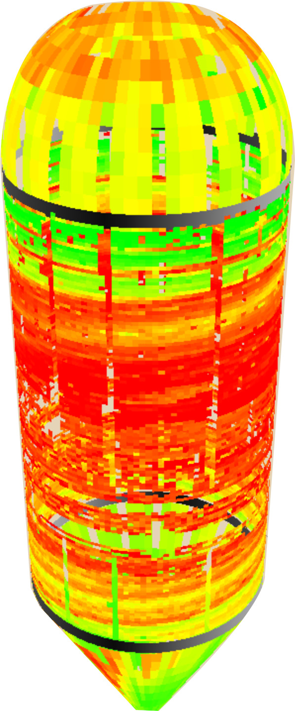 3D digester deliverable with UT data points