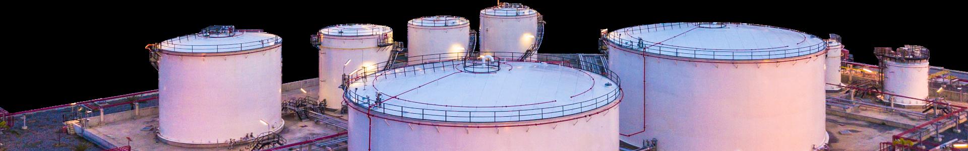 Oil & Gas Tanks Close