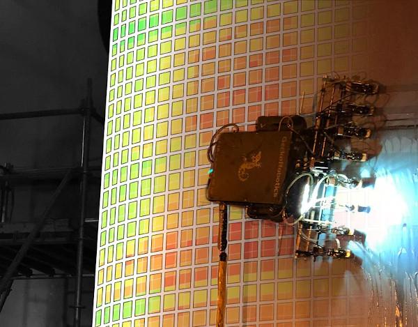 Rapid Ultrasonic Gridding on Tank Wall